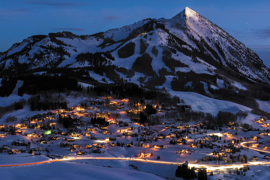 Crested Butte Mountain at Night